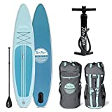 Ten Toes SUP Emporium Ten Toes Globetrotter Inflatable Stand Up Paddle Board Bundle, Large/12', Marine
