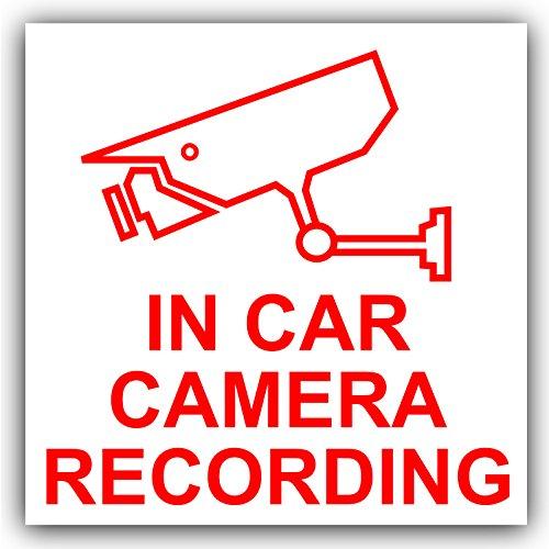 1 caméra de voiture avec enregistrement Sticker-Rouge/blanc-CCTV signe-camion, camionnette, camion, Bus Taxi Cab et Minicab, Mini