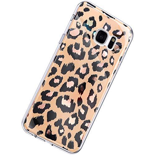 Herbests Kompatibel mit Samsung Galaxy S7 Hülle Marmor Muster Glänzend Glitzer Bling Weich Silikon Hülle Kratzfest Schutzhülle Tasche Crystal Case Durchsichtig Dünn Handyhülle,Marmor Gold
