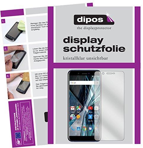dipos I 2X Schutzfolie klar kompatibel mit Archos Core 57S Folie Bildschirmschutzfolie