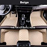 ZhengELE Accesorios Car Styling pie Mats Custom Car tapetes for Bentley Mulsanne Continental (Color Name : Beige-4/5Seat)