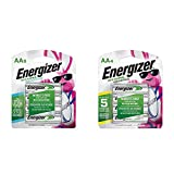 Energizer Rechargeable AA Batteries, NiMH, 2300 mAh, Pre-Charged, 8 Count (Recharge Power Plus) & Rechargeable AA Batteries, NiMH, 2000 mAh, Pre-Charged, 4 Count (Recharge Universal)