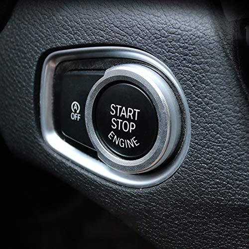 PAN-ES Anillo de decoración de pulsadorde Coche de aleación de Aluminio Compatible for BMW (Color : Silver)