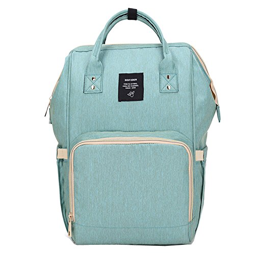 BigForest Mummy Sacs ¨¤ Dos ¨¤ Langer pour B¨¦b¨¦ Sac Travel Bag Multifunction Baby Diaper Nappy Changing Light green sac ¨¤ main tote bag