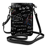 XCNGG bolso del teléfono Women Soft PU Leather Cellphone Purse Wallet Math Mathematical Function Sin Cos Handbag Small Crossbody Shoulder Bag Pouch for Travel Shopping Working