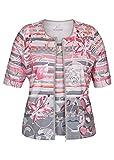 Rabe Damen Twin-Set mit Allover-Print und Zipper