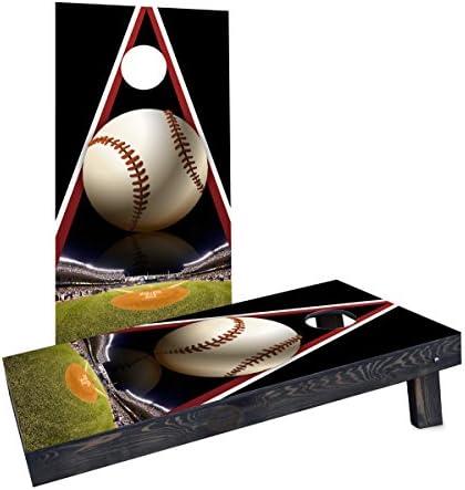 Custom Cornhole Boards Baseball No 1 Cornhole Boards Heavy Duty 2 X 4 product image