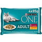 Purina ONE comida húmeda para gato adulto filetes en salsa con pollo 12 x [4 x 85 g]