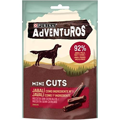 Nestlé Purina Adventuros Snacks y chuches para Perros Mini Cuts Jabalí 70 g - Pack de 7 🔥