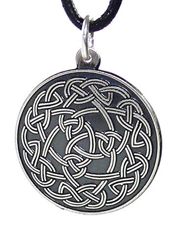 budawi® - Amulett Keltischer Knoten aus 925er Sterling Silber, Silberamulett (Freya), Talisman