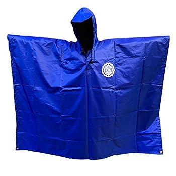SEAL3 Rain Poncho - Waterproof Hooded Heavy Duty PVC Raincoat-Gear All Outdoor Multi-Use- Hunting Backpack Survival Emergency Military or Stadium Adult Men-Women-Kids in Royal Blue.