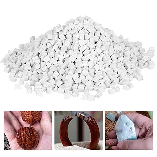 Zunate Keramik-Dreieck-Schleifmittel, Schmuckpolier-Schleifmittel, 4 mm 500 g Keramik-Schleifmittel zum Schleifen und Polieren von Bowlder