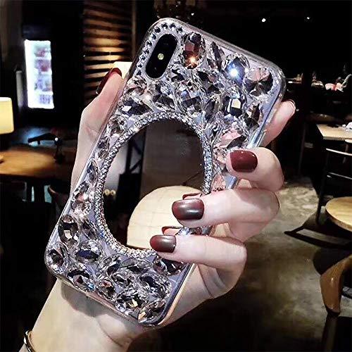 LCHDA Maquillage Miroir Case Bling Glitter Clair Cristal Full ...