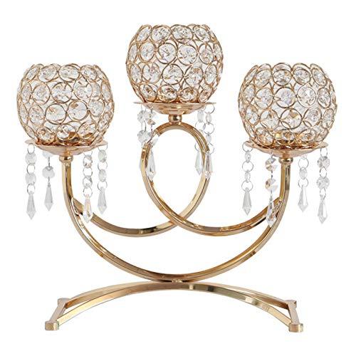 candelabro cristal de 3 brazos de la marca Huhudde