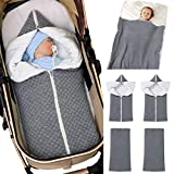 Camidy Kinder Baby Schlafsack Neugeborene Wickelsack Säugling Erhalten Decke Kinderwagen Wrap mit Reißverschluss für 0-12 Monate Babys