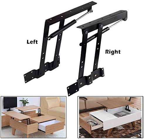 Best 2pcs Folding Lift up Top Coffee Table Lifting Frame Desk Mechanism Hardware Fitting Hinge Spring Sta