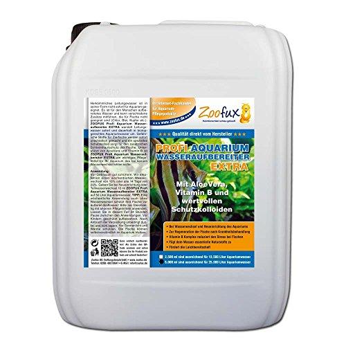 ZOOFUX Profi Aquarium Wasseraufbereiter EXTRA (GRATIS Lieferung innerhalb Deutschlands - Für Ihr Aquarium mit AloeVera, Vitamin B und wertvollen Schutzkolloiden), Inhalt:5 Liter