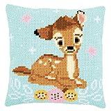 Vervaco Kit de cojín de Punto de Cruz: Disney: Bambi, N, 40 x 40 cm