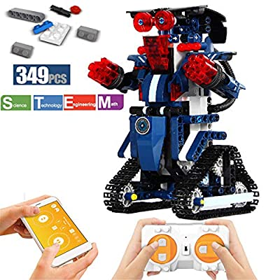 ritastar S.T.E.M Robot Toy Kit with APP Remote Control Smart Tracked Building Block Robot Creative Educational Learning Toys for Boys Girls Kids Birthday Age 6 and up (349pcs Bricks)