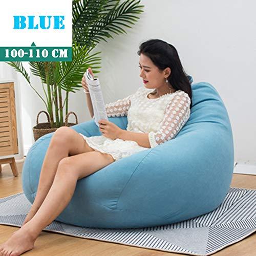 Twnhmj zitzak, groot, voor gebruik binnenshuis, voor volwassenen, duurzaam, voor buitengebruik van de vloer in de tuin (100-110 cm)