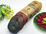 Natural Cotton Macrame Puzzle Cord 7 Colors 2mm x 219 Yards Organic Macrame Rope for DIY Crafts Knitting Knotting Decorative Projects Christmas Gifts Winter