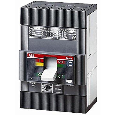 ABB T3N200TW Molded Case Circuit Breaker, 600Y/347 VAC, 500 VDC, 200 A, 3 Poles