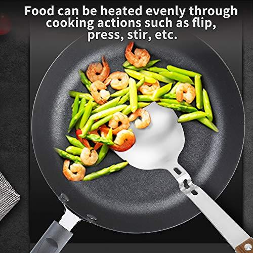 YYP Espátula de Wok, con mango de madera resistente al calor, pala de cocina para pescado, huevos, tortillas, panqueques, hamburguesas