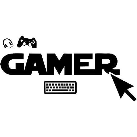 Calcomanías de pared para teclado de videojuegos, pegatinas de Gamepad, pegatinas de vinilo extraíbles, pegatinas de videojuegos, para el hogar, sala de juegos, dormitorio, decoración de habitación
