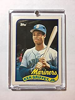 1989 Topps Traded Ken Griffey Jr Rookie Card #41T Mariners Comes with New Ultra Pro 1 Screw Holder