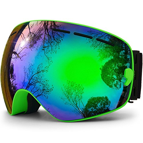 Hongdak, Snowboard Goggles, Ski Goggles, Anti Fog OTG, UV Protection, Helmet Compatible, Snow Goggles, Boys Girls, Men, Women, Kids