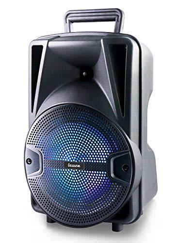 Lauson Altoparlante Portatile Bluetooth con Luci RGB Multicolori Altoparlante con Lettore MP3 USB/SD | Altoparlante Bluetooth 28W con Funzione Karaoke | Batteria Ricaricabile 2400mAh | Radio FM