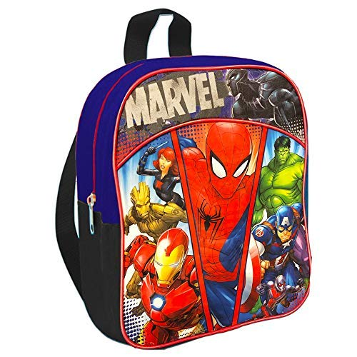 "Marvel Avengers 11"" Mini Toddler Preschool Backpack Featuring Spiderman, Iron Man, Captain America and More"