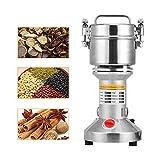 SEAAN Electric Grain Mill Grinder,Stainless Steel Grain Mill Grinder,Grains Spices Herbs Cereals Coffee Dry Food Grinder Mill Grinding Machine (150g)