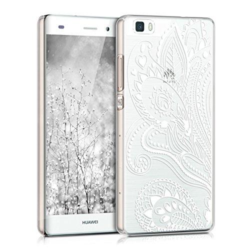 kwmobile Hülle kompatibel mit Huawei P8 Lite (2015) - Handyhülle - Handy Hülle Paisley Blume Weiß Transparent