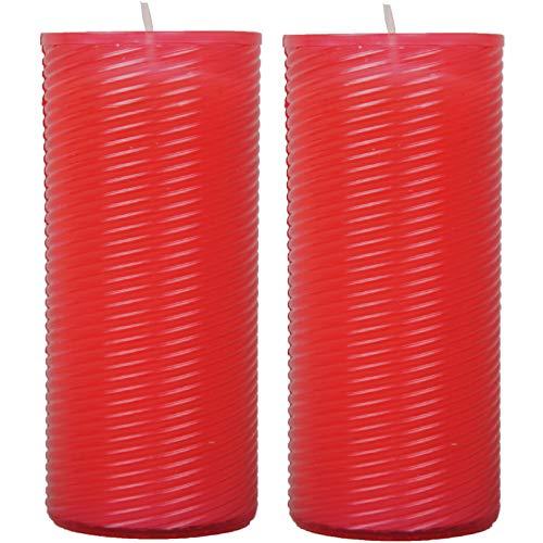 HS Candle grafkaars pak van 2 reservekaars N3 navulling rood 13 cm