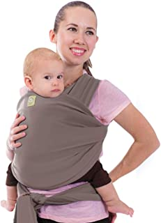 Baby Wrap Carrier by KeaBabies - All-in-1 Stretchy Baby Wraps - 3 Colors - Baby Sling - Infant Carrier - Hands-Free Babies Carrier Wraps | Great Baby Shower (Copper Gray)