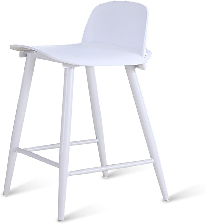 XIAO YING Nordic bar chairs minimalist cafe bar chairs modern backstool bar bar stools Creative Sool (color   White, Size   43  45  60cm)
