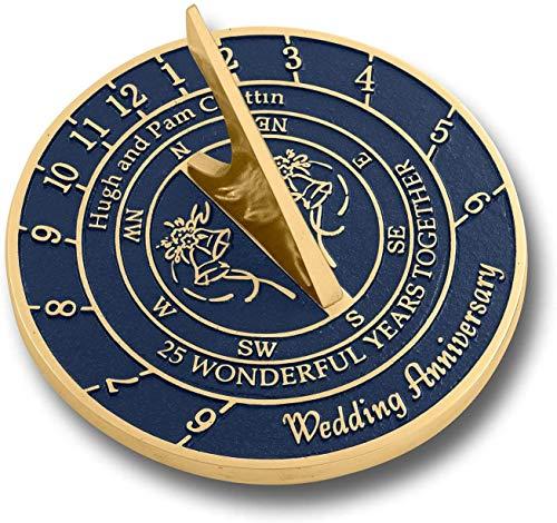 Antiquité NAUTICALS Cadran solaire en argent pour anniversaire de mariage