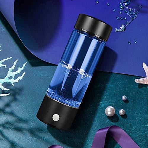 Kacsoo Wasserstoff Reiches Wasser Flasche Tragbar 380ml USB wiederaufladbare tragbare wasserstoffreiche Wasserflasche 3 Minuten wasserstoffreicher Generator Immunität stärken