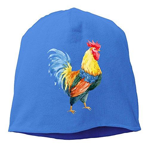 WellShopping Beautiful Watercolor Rooster Plain Skullies Beanie Dance toboggan Hat Unisex Cap