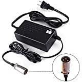 LotFancy 24V 2A Battery Charger for Electric Scooter, Wheelchairs, for Jazzy...