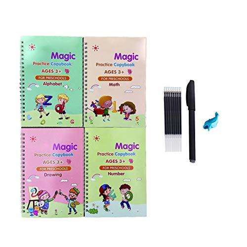 yahede Libro De Ejercicios Mágico Cuaderno Libro De Dibujo Digital Preescolar Y Juego De Cuadernos Herramienta De Educación En El Hogar Reutilizable Adecuada Para Niños De Jardín De Infantes everybody