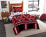 Atlanta Falcons NFL Twin Comforter and Sheets, 4 Piece NFL Bedding
