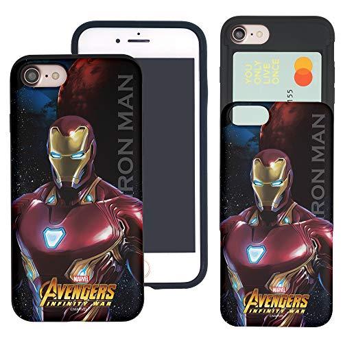 Funda para iPhone 8 Plus/iPhone 7 Plus Avengers Slim Slider Cover : Card Dual Layer Holder Bumper para [iPhone 8 Plus/iPhone 7 Plus] Infinity War Iron Man (iPhone 8 Plus/7 Plus)