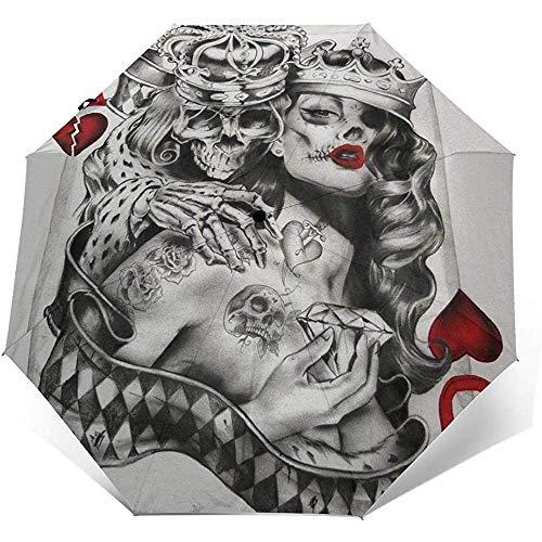 Cy-ril-Automatic tri-fold umbrella Automatischer dreifachgefalteter Regenschirm USA Brasilien Fahnendruck Winddicht Kompakt Automatischer Dreifachgefalteter Regenschirm