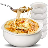 Stock Your Home White French Onion Soup Crocks (6 Count) - 12 Ounce Oven Safe French Onion Soup...