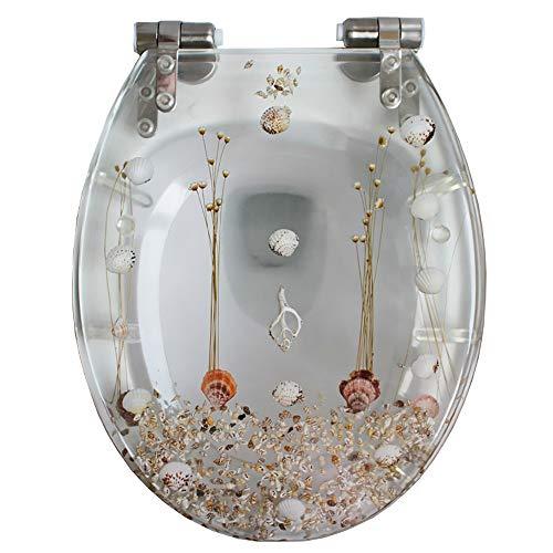 toilet lid Asiento de Inodoro Resina de Alta Resistencia Cubierta de Tapa de Inodoro con bisagra de Cierre Lento Suave para baño