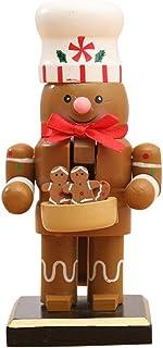 Décorations de Noël Casse-Noisette, Casse-noisette en bois soldat ornement casse-noisette figurines jouet avec Santa bonho...
