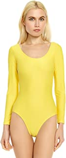 Leveret Women's Leotard Basic Long Sleeve Ballet Dance Leotard Variety of Colors (Size XSmall-XLarge)