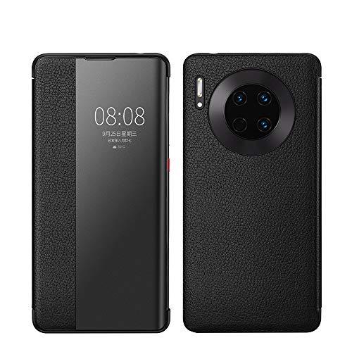 XYAL0002003 Xingyue Aile Hoezen & Hoezen Voor Huawei Mate 30, Echt Leer Flip Open Raam Automatische Slaap wakker Smart Cover Case Shell Compatibel met Huawei Mate 30, Zwart